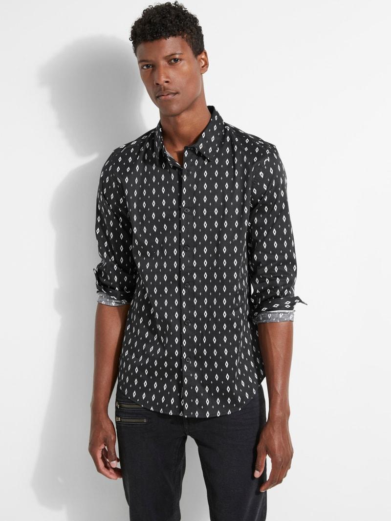 Luxe Diamond-Print Shirt
