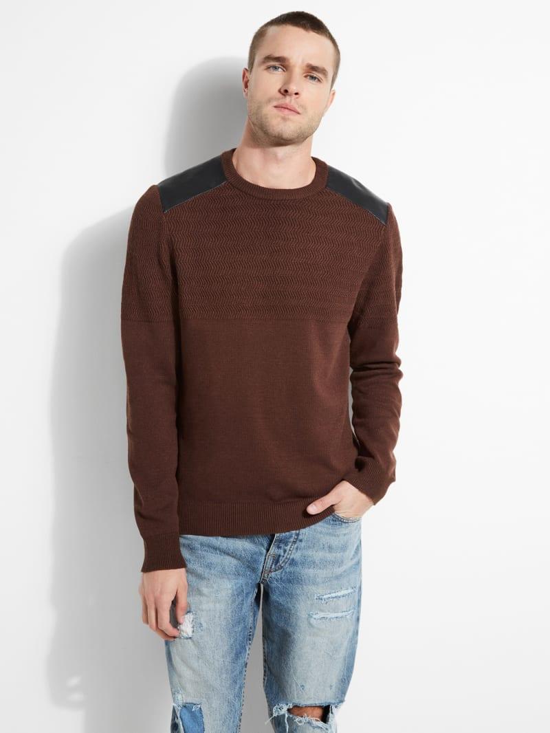 Liam Herringbone Contrast Sweater