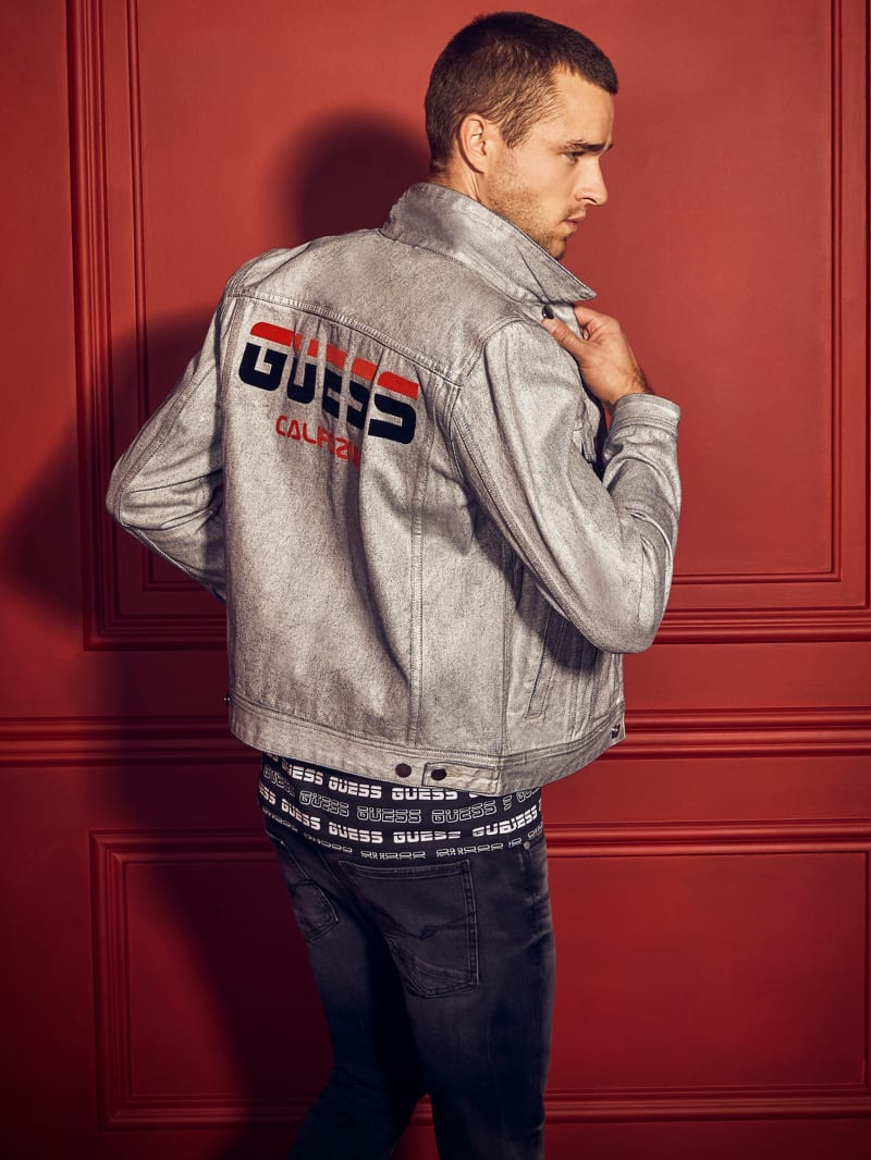 Dillon Silver-Coated Denim Jacket