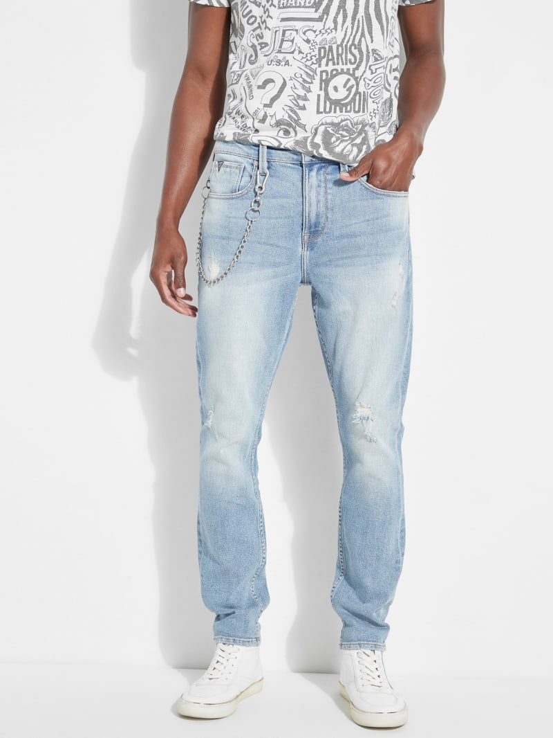 Chain Utility Fit Jeans