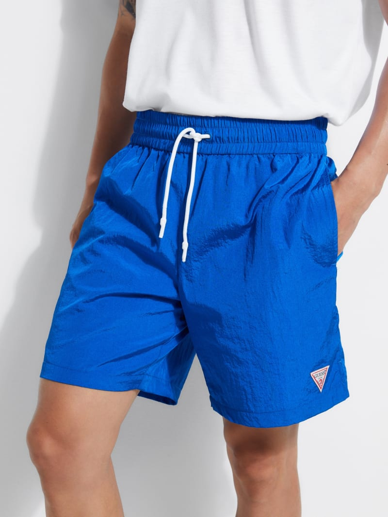 Mesh-Lined Nylon Shorts