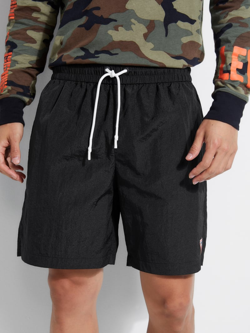 Mesh-Lined Nylon Shorts