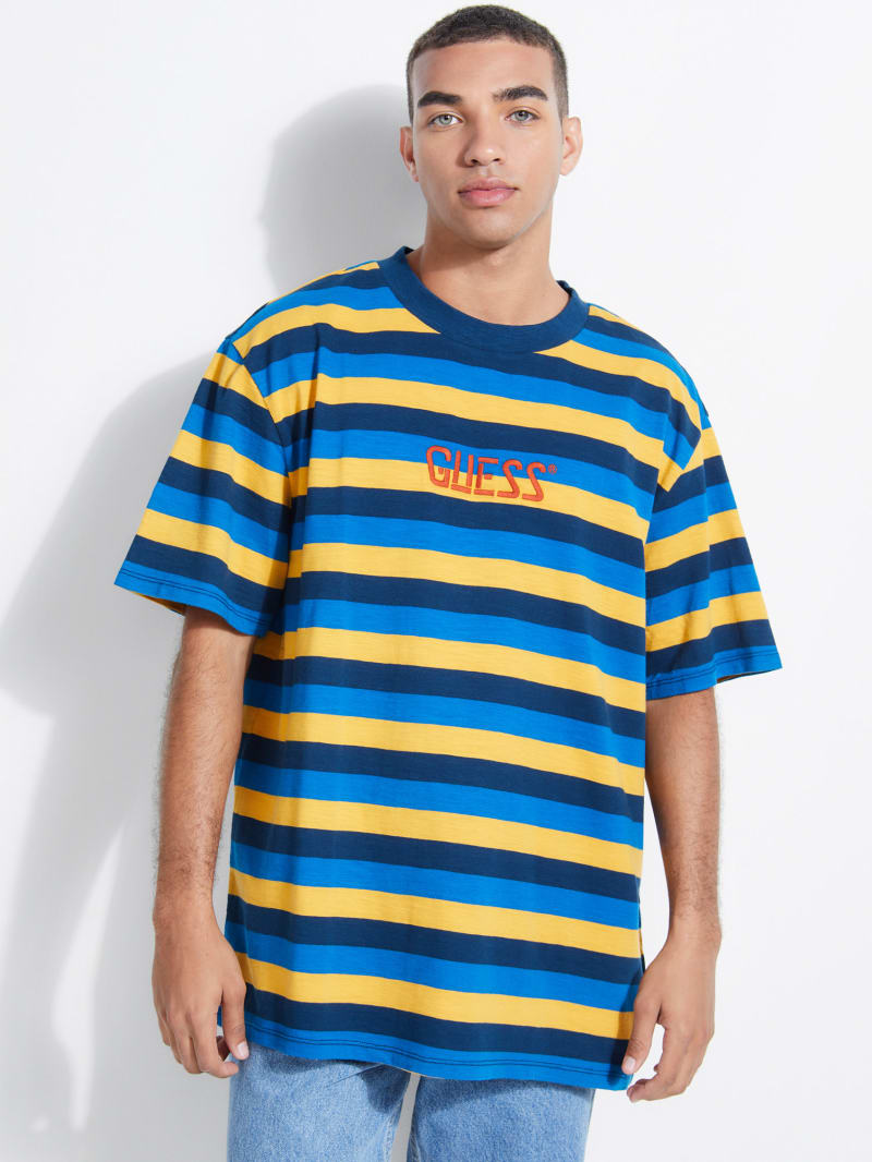 GUESS Originals Striped Logo Tee