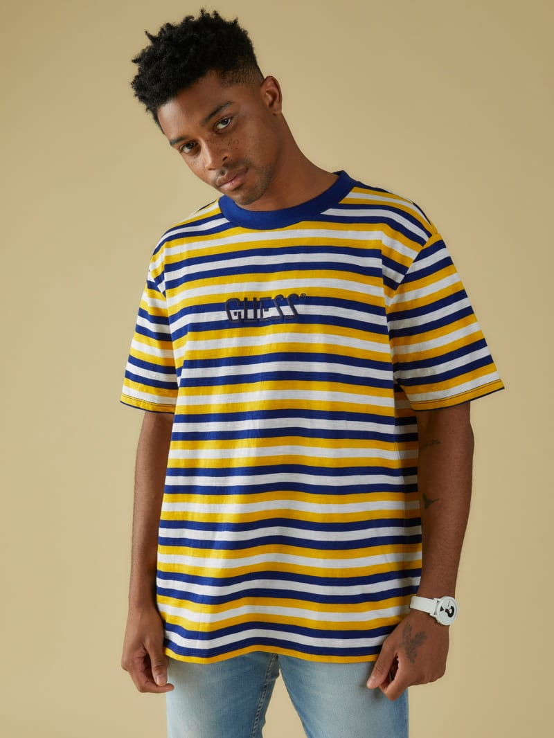 GUESS Originals Embroidered Stripe Tee