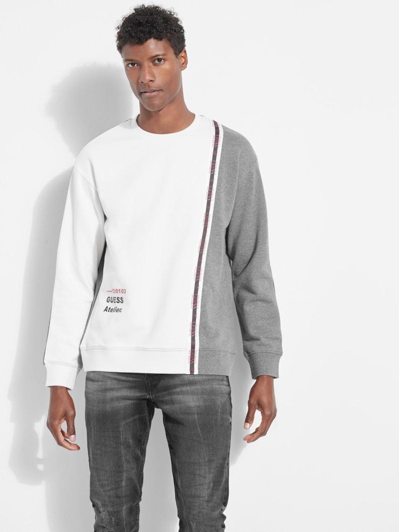 Color-Block Logo Tape Sweatshirt