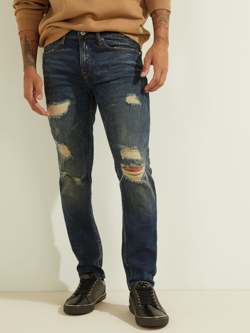 Destroyed Slim Tapered Jeans