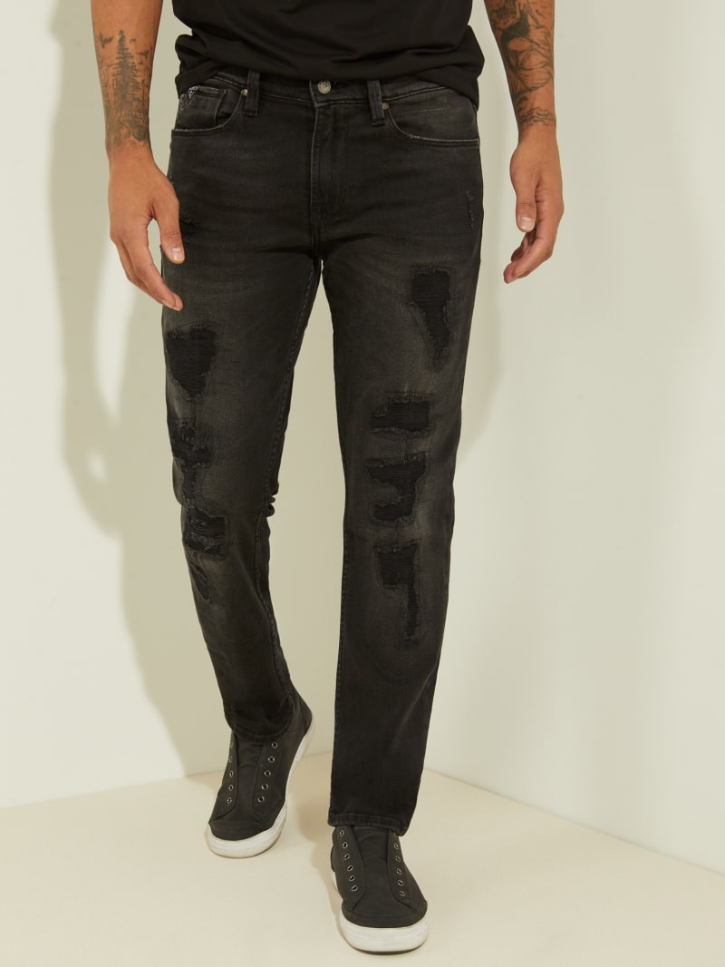 Distressed Slim Tapered Jeans