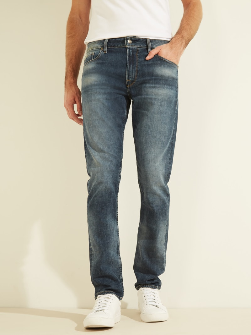 Classic Wash Slim Tapered Jeans