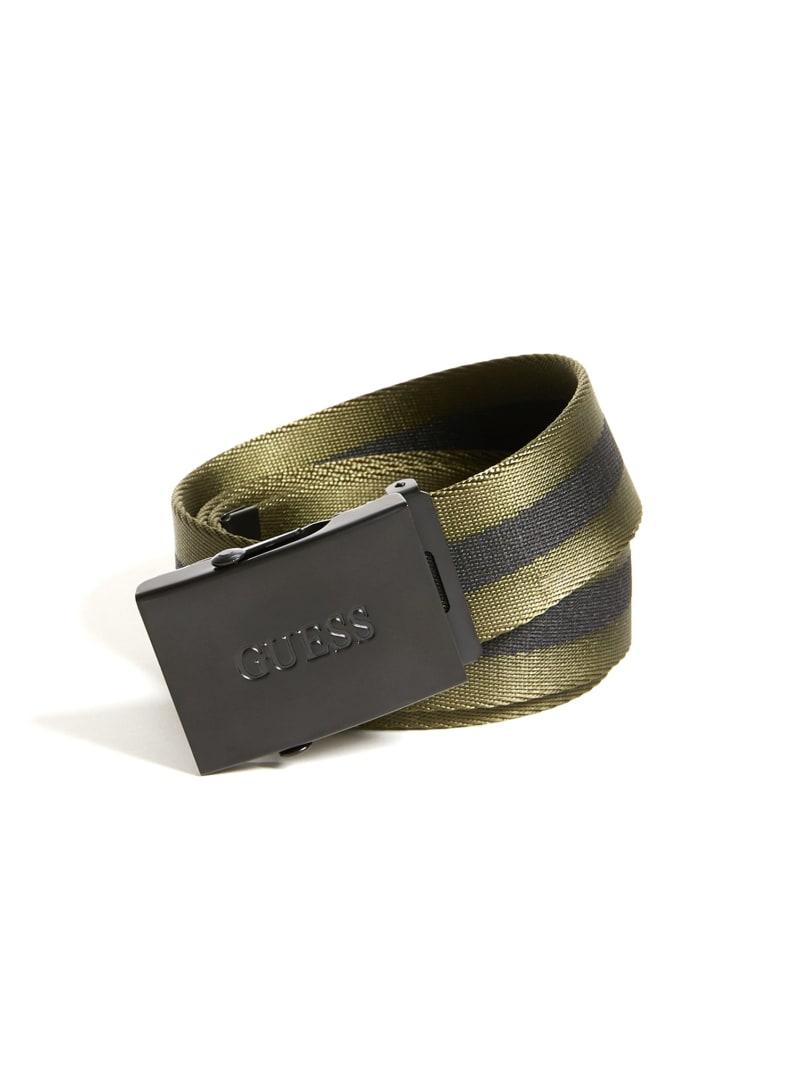 Striped Webbed Belt