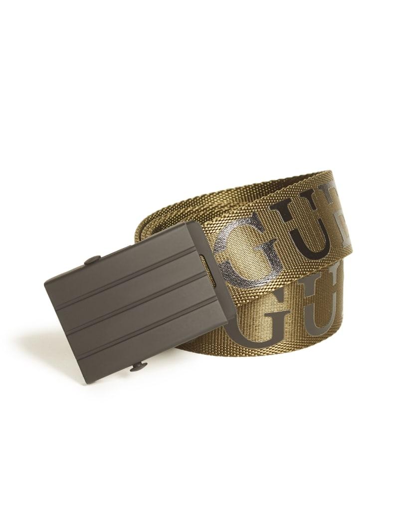 Split Logo Webbed Belt