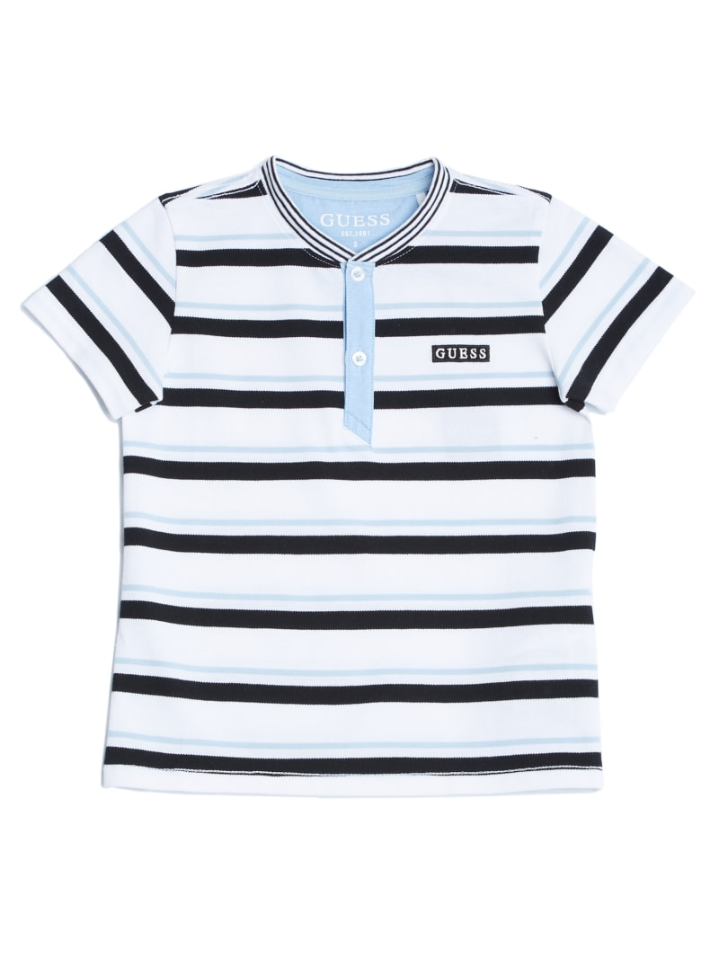 Striped Henley Logo Tee (2-7)