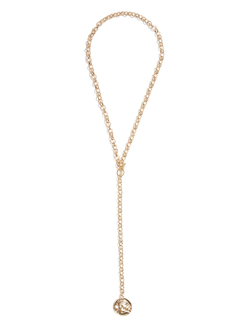 Rose Gold-Tone Coin Necklace