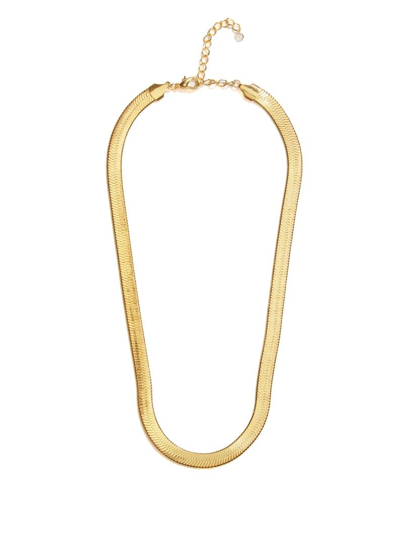 14KT Gold Chevron Chain Necklace