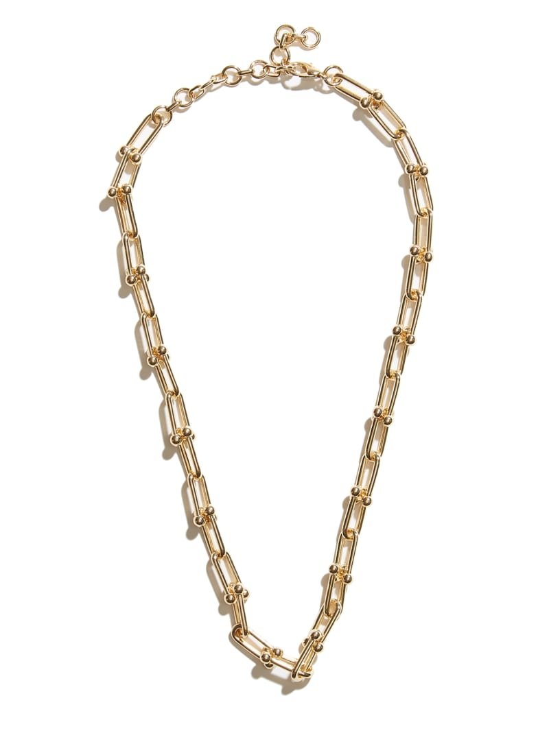 14KT Ball Paperclip Chain Necklace
