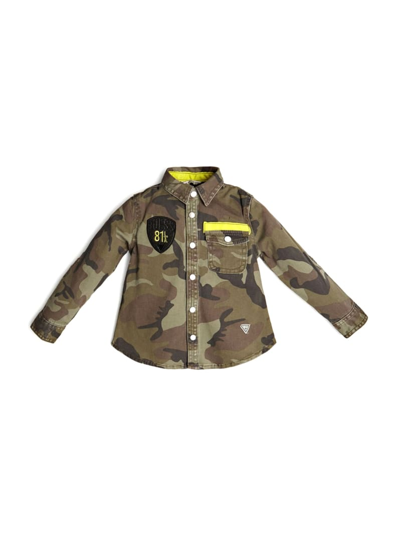 Patch Camo-Print Shirt (2-7)