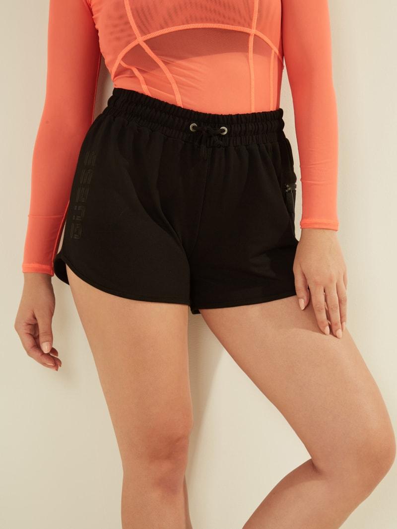 Zip Pocket Drawstring Shorts