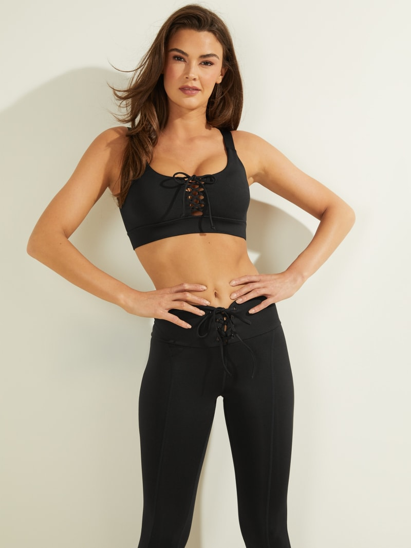 Agatha Lace-Up Active Bra