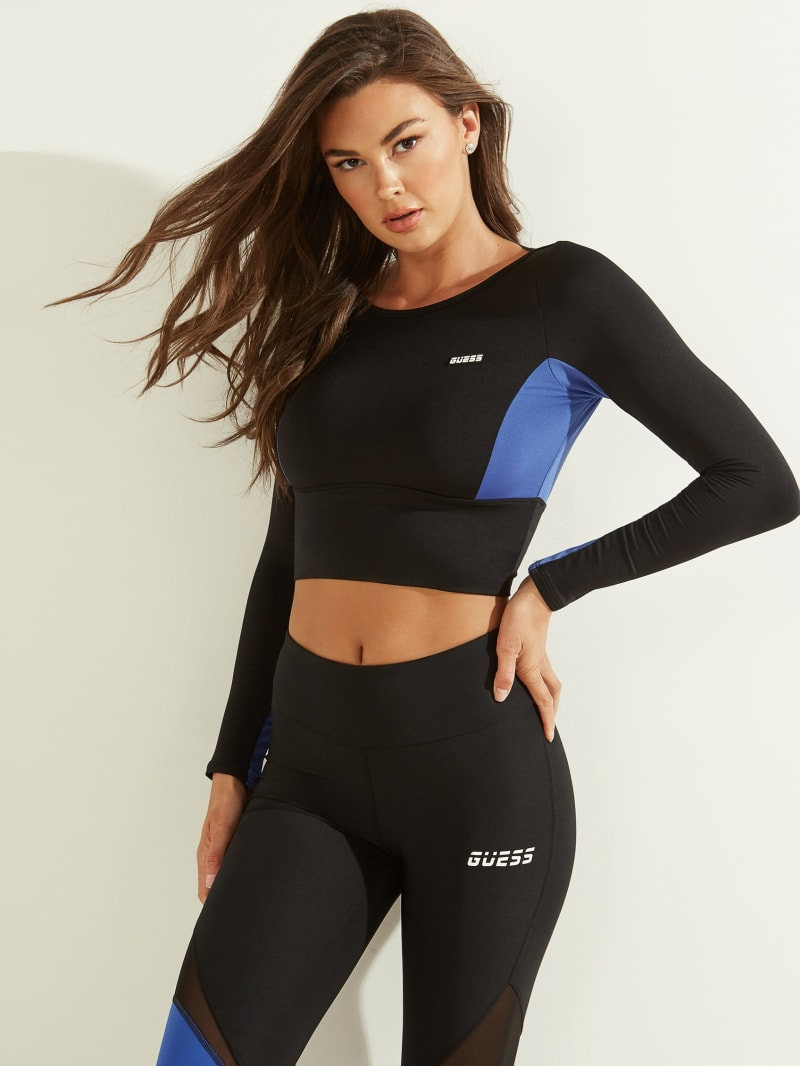 Cutout Cropped Long-Sleeve