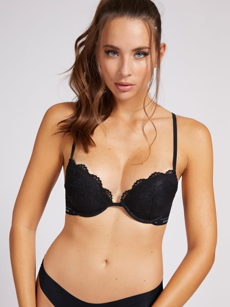 Lace Logo Push-Up Bra