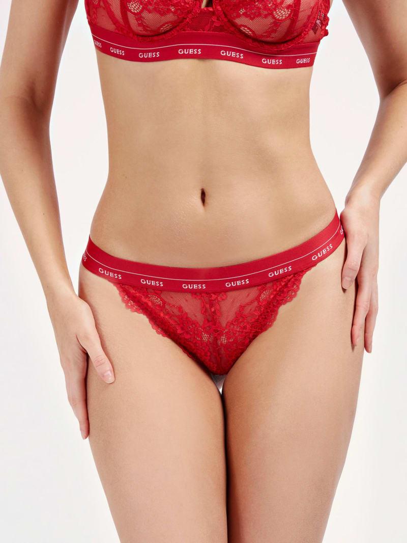 Lace Logo Brazilian Panty
