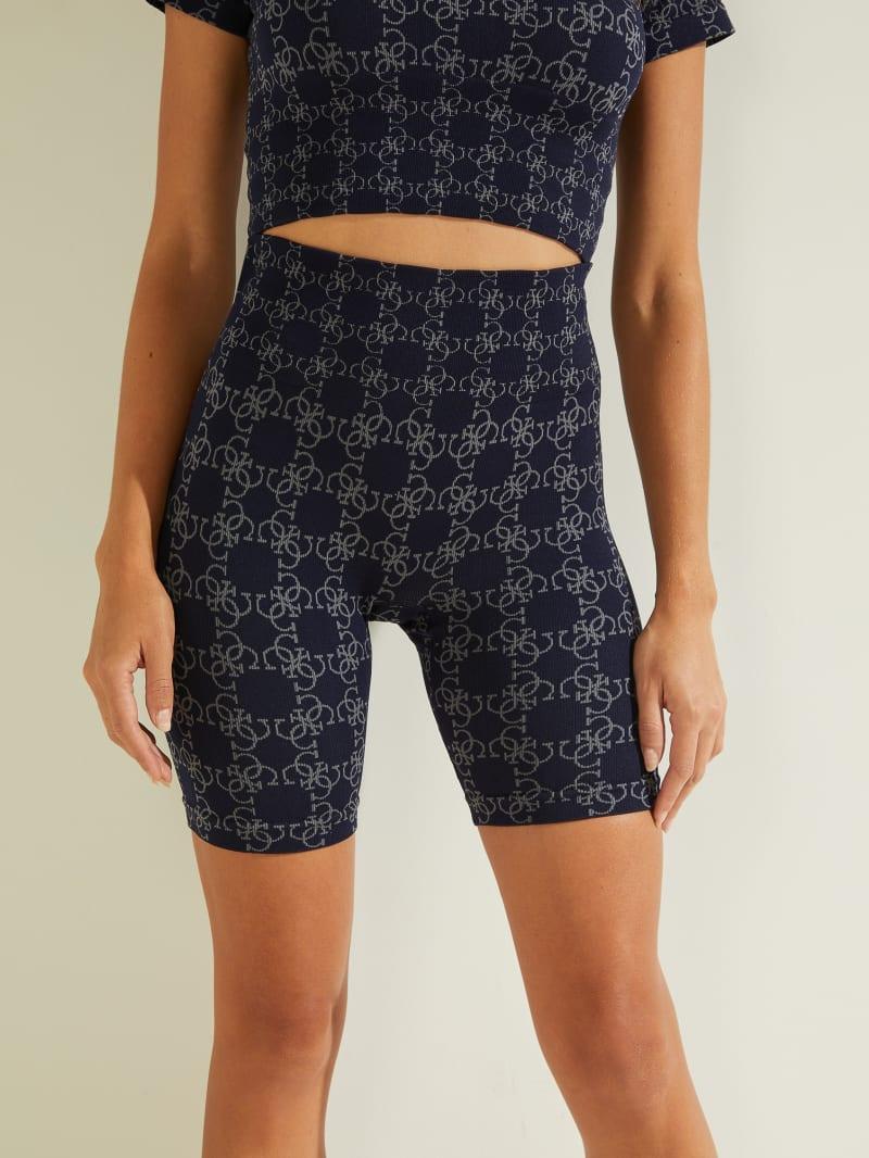 Della Logo Print Shorts