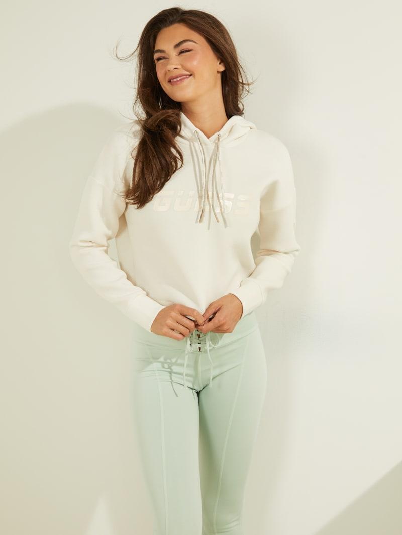 Double Drawstring  Hooded Sweatshirt