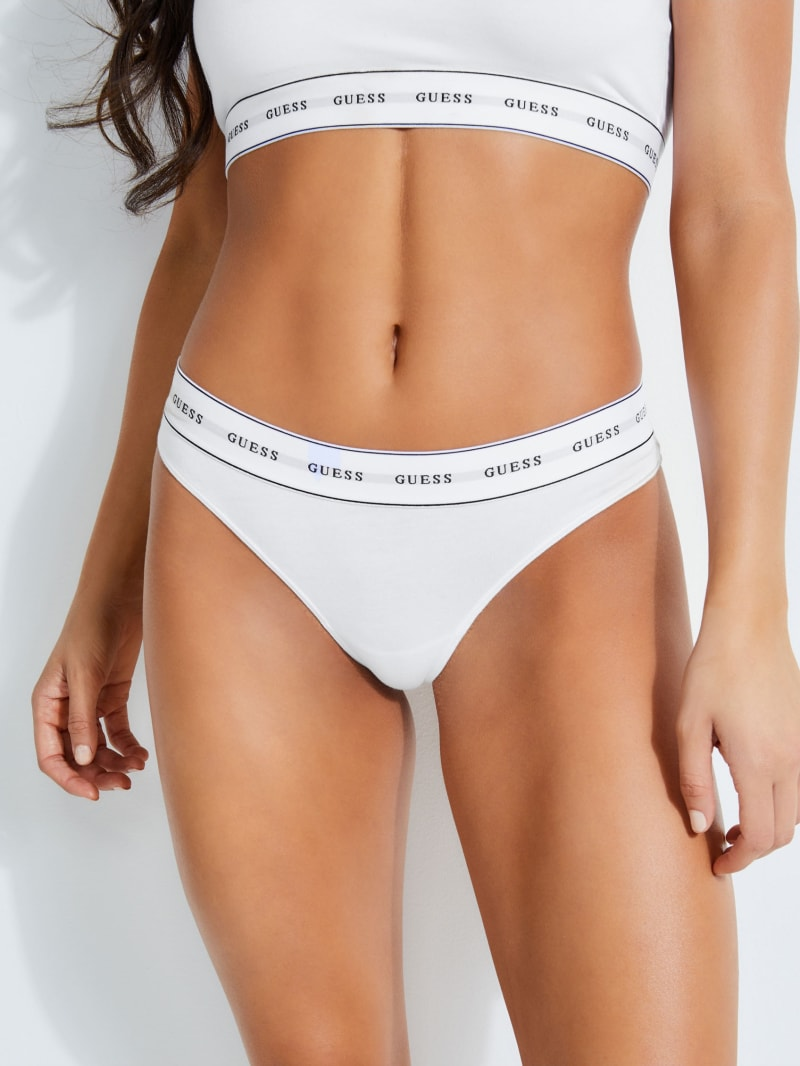 Logo-Trim Thong