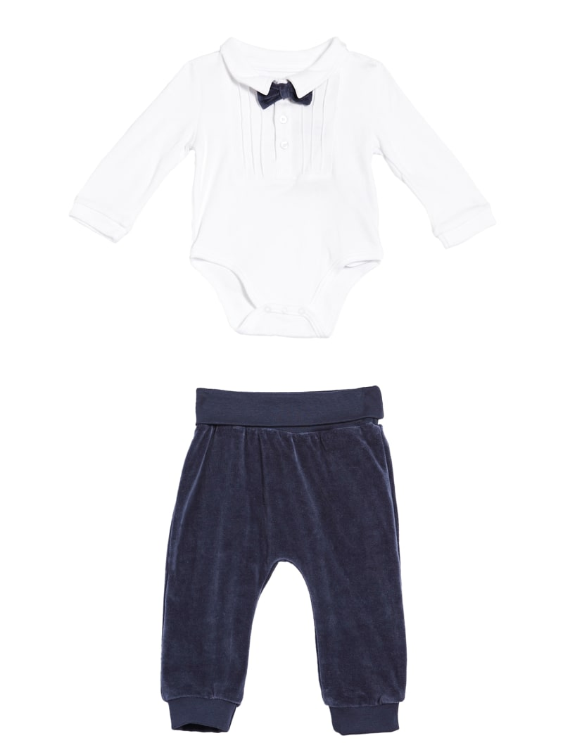 Tuxedo Bodysuit And Velour Pants Set (0-24M)