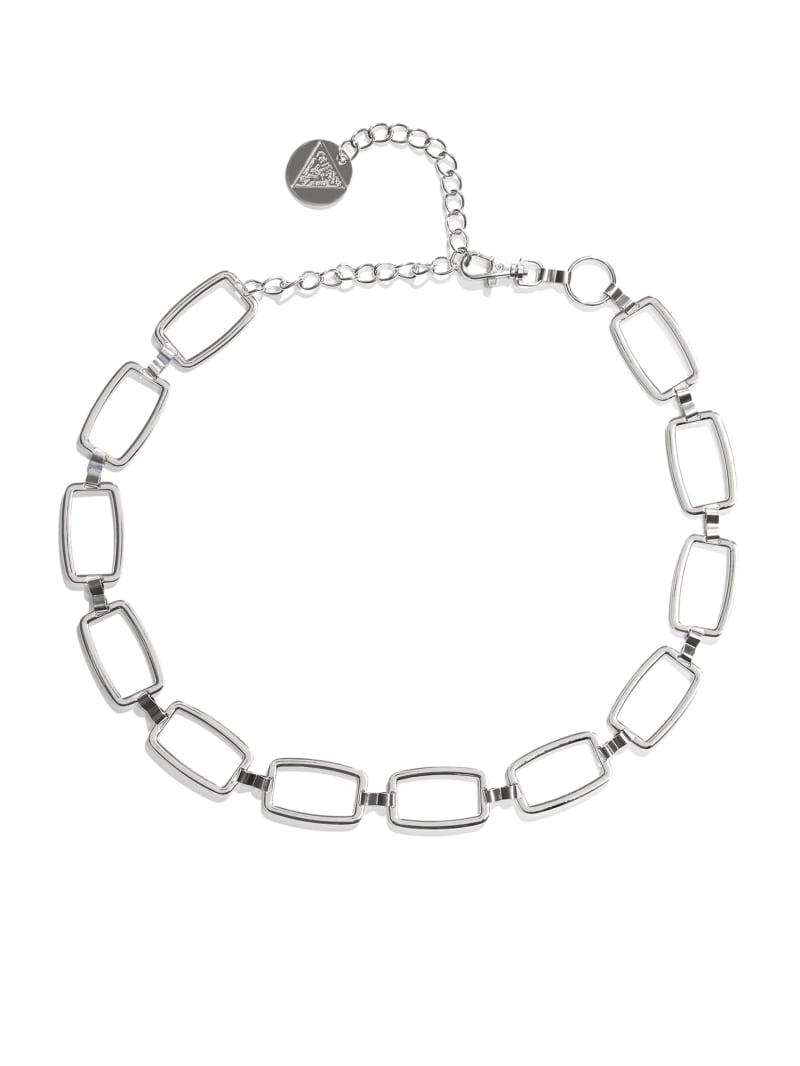 Silver-Tone Square Chain Belt