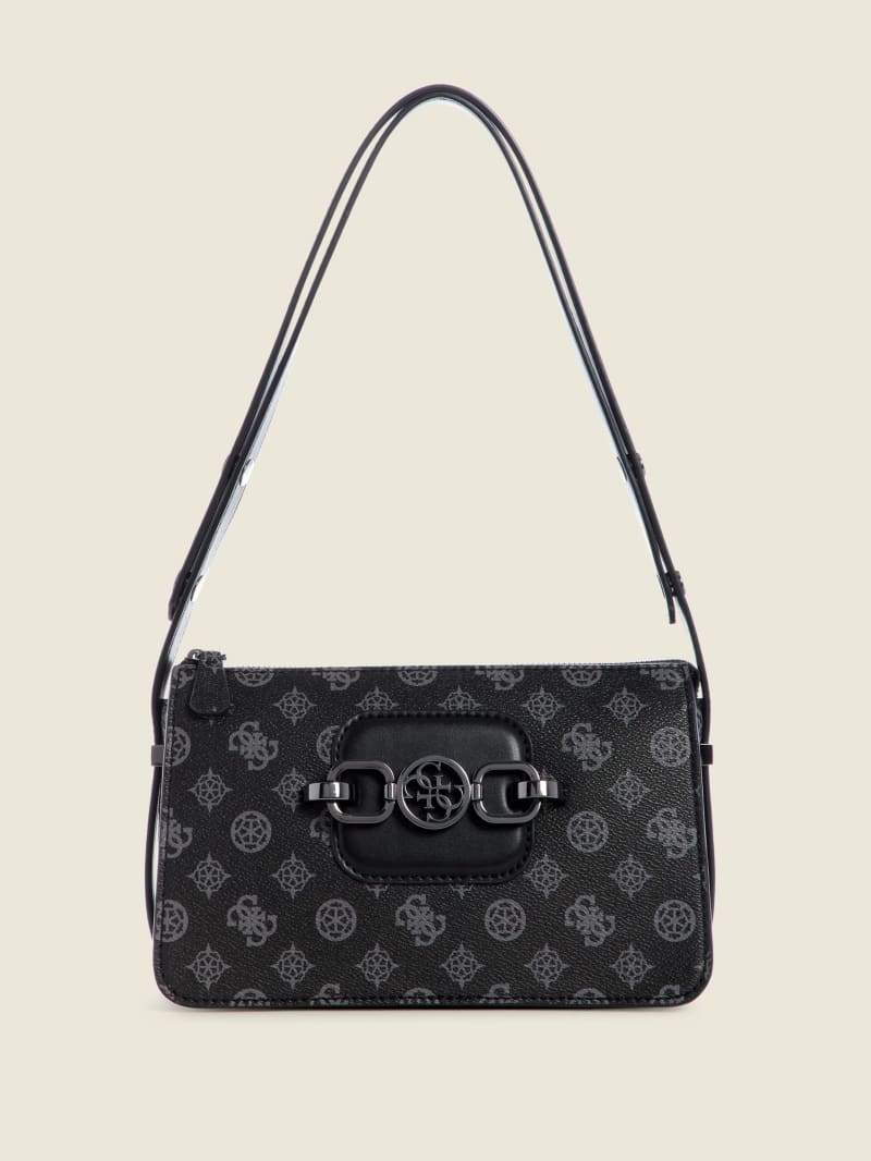 Hensely Zip-Top Logo Shoulder Bag