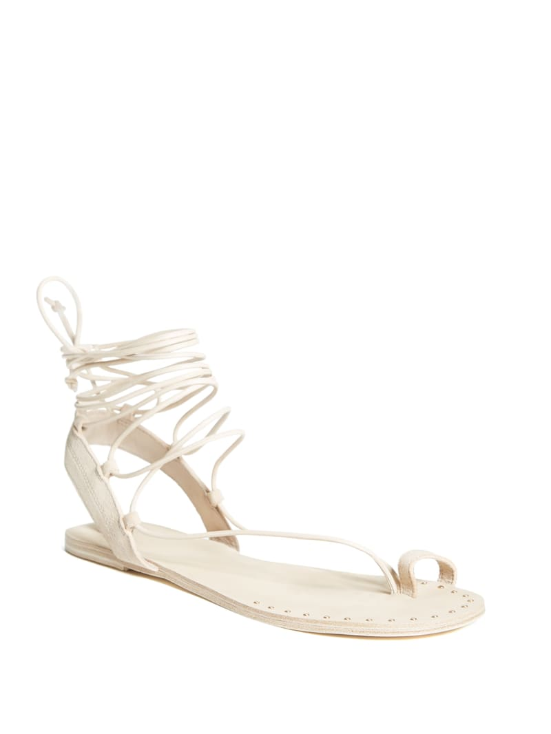 Izabel Lace-Up Flat Sandal