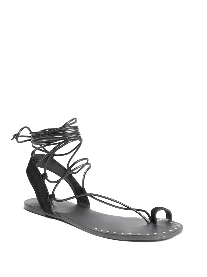 Izabel Lace-Up Flat Sandal