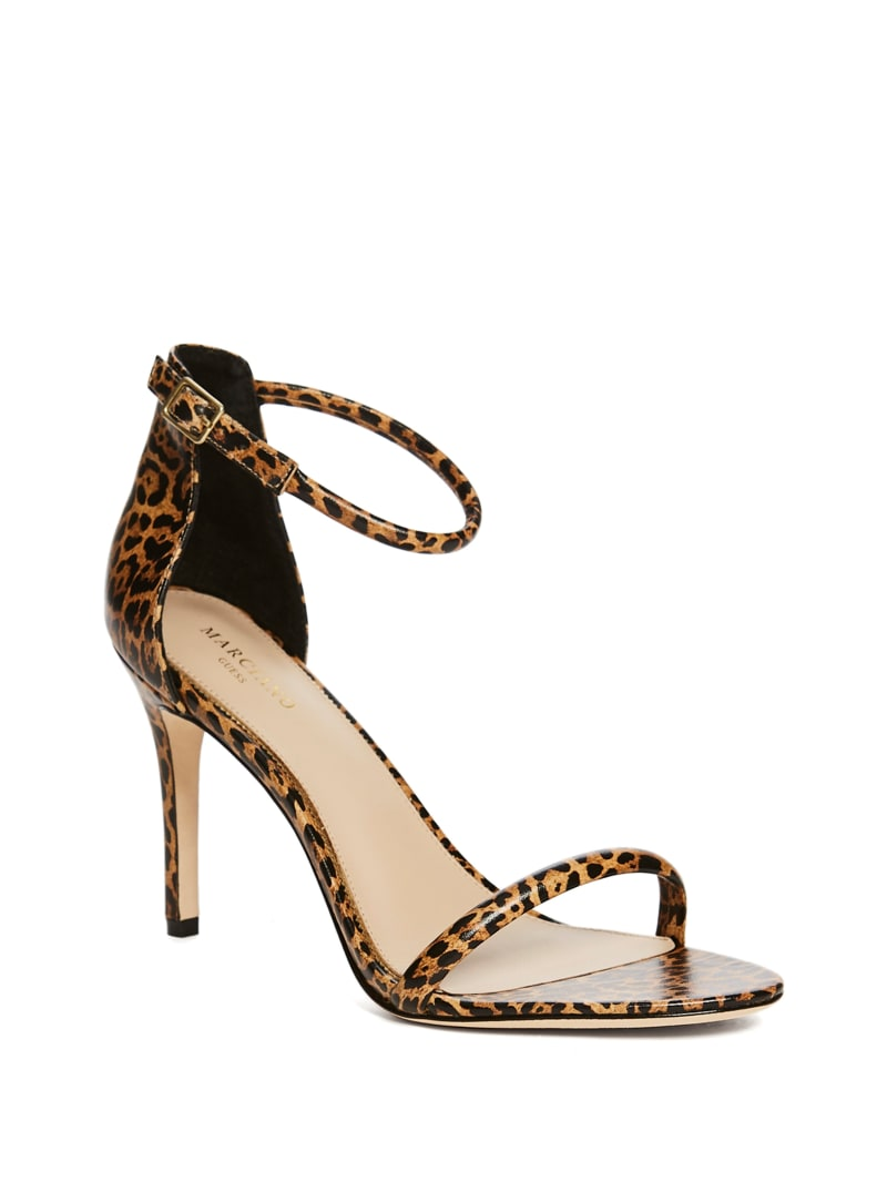 Leo Leopard Heeled Sandal