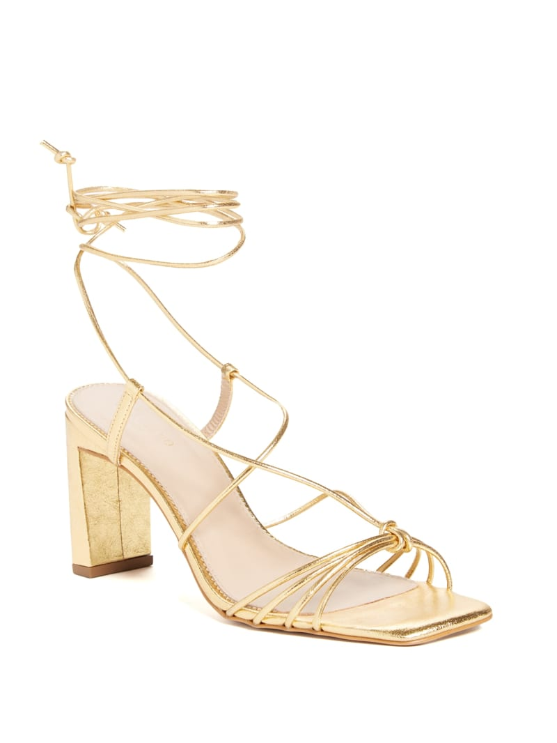 Lia Lace-Up Heeled Sandal