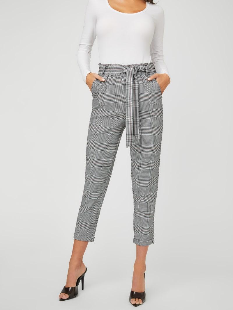 Lea Plaid Ponte Pants