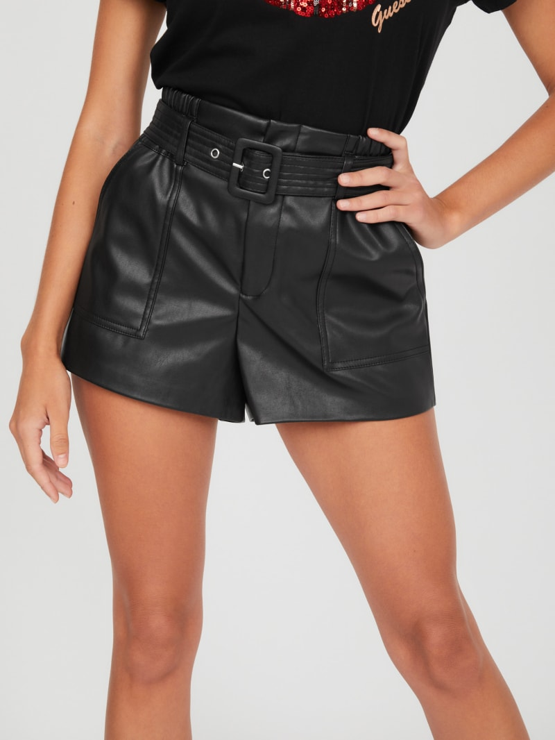 Lana Faux-Leather Short