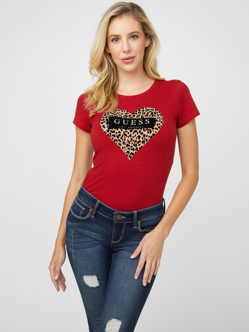 Syd Leopard Heart Logo Tee