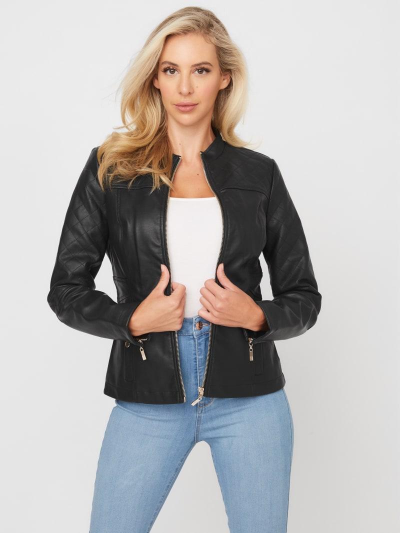 Donatela Faux-Leather Jacket