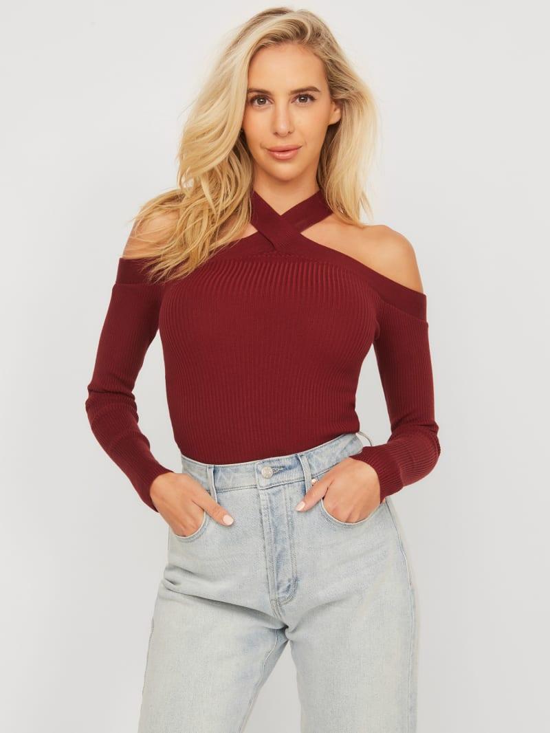 Tessie Cold-Shoulder Sweater