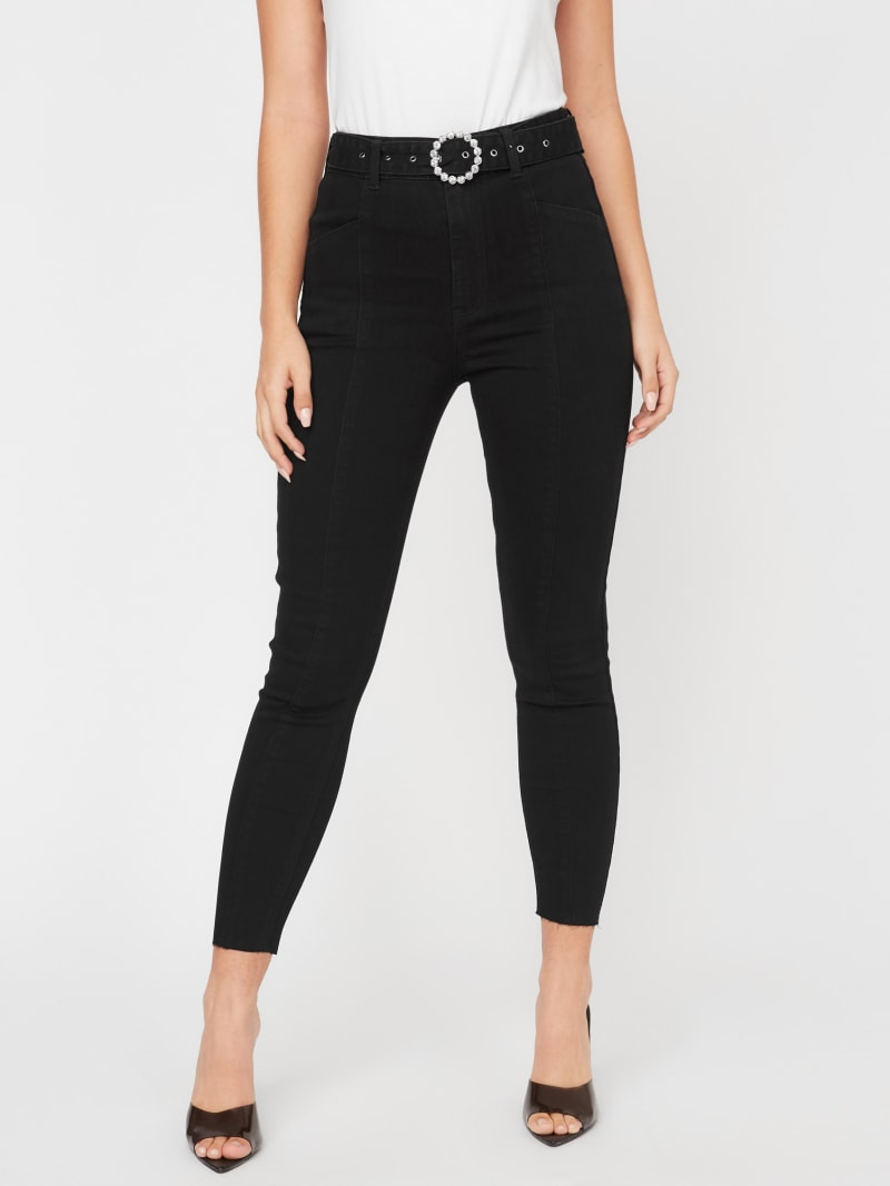 Cally Belted Skinny Jeans
