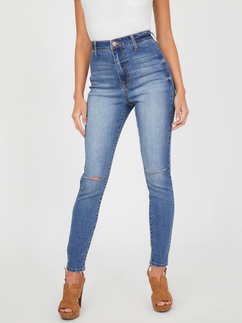 Justine Distressed Skinny Jeans