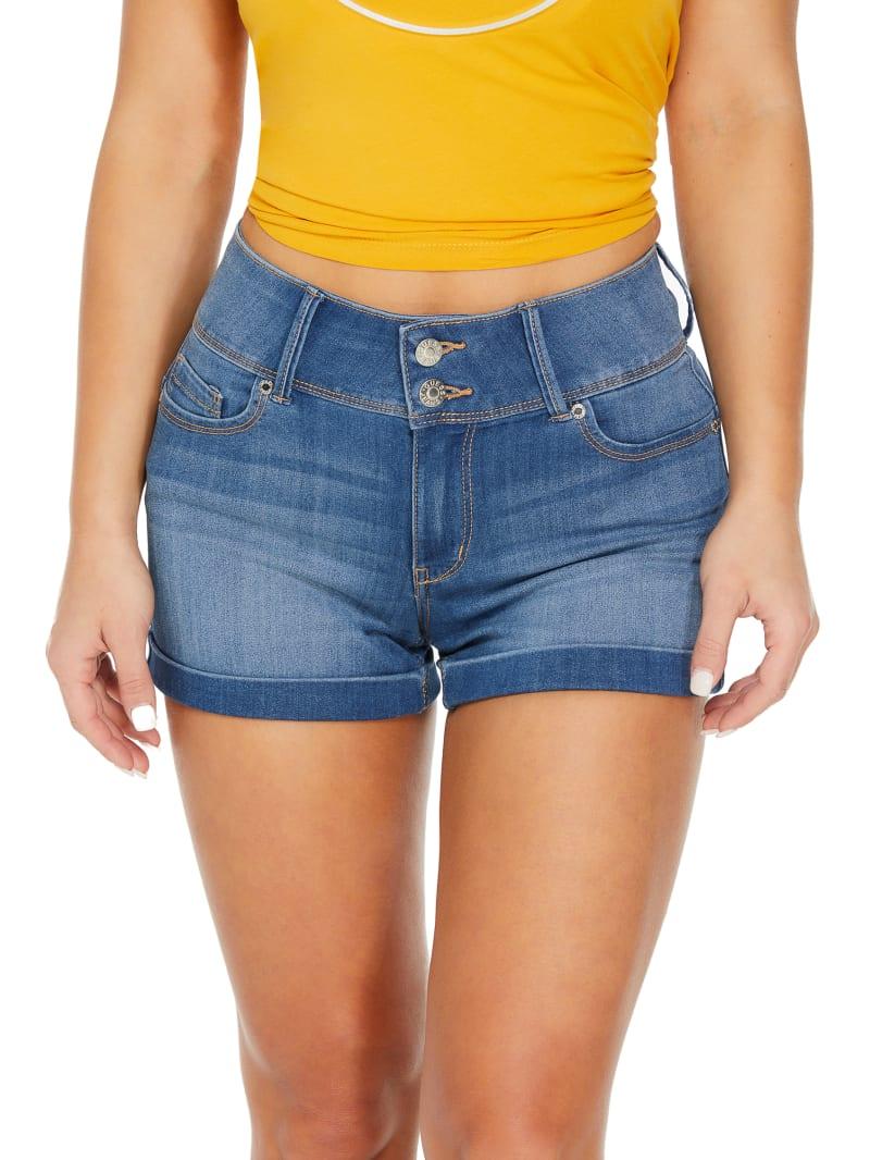 Violet Mid-Rise Denim Shorts