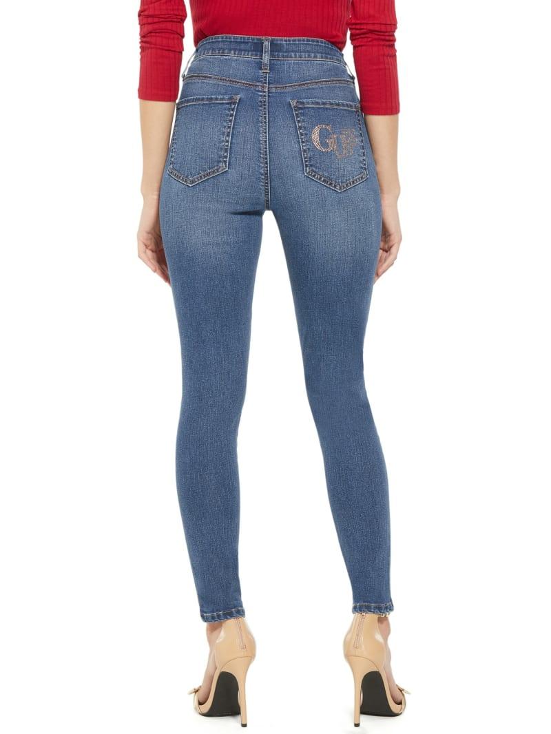 Pima Bling Pocket Destroyed Skinny Jeans