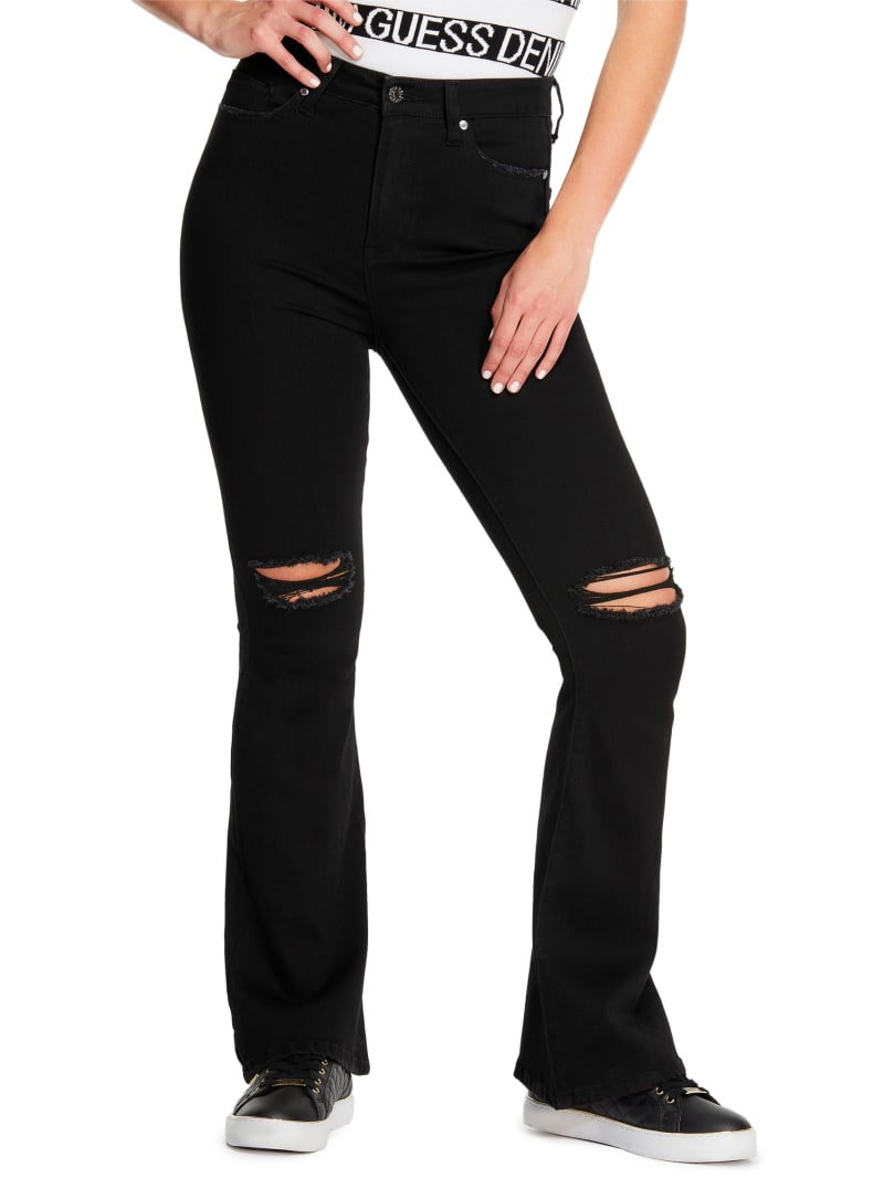 Kaari High-Rise Destroyed Flare Jeans