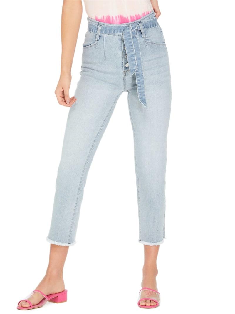 Kachele Tie-Front Wide-Leg Jeans
