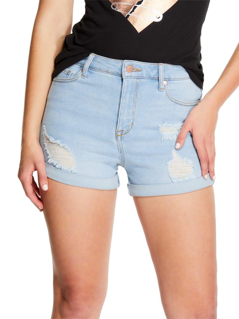 Renee Cuffed High-Rise Denim Shorts