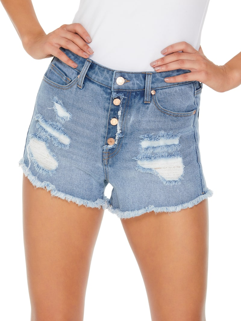 Vie Destroyed Denim Shorts