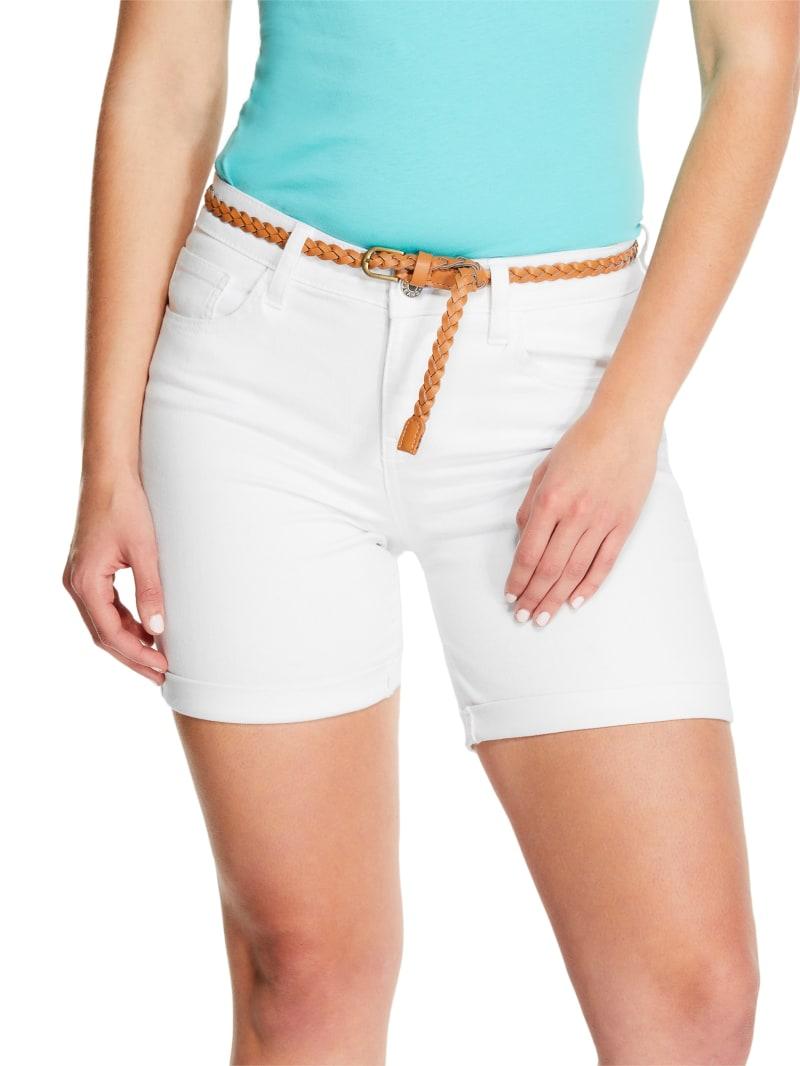 Gelina Belted Midi Cuff Shorts