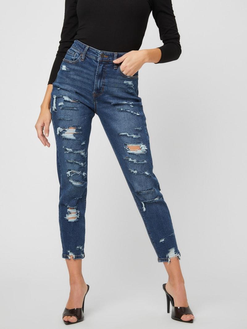 Karrie Curvy Distressed Jeans