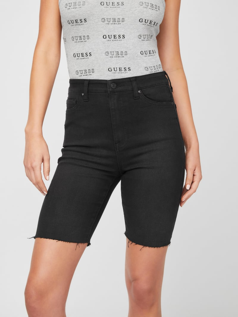 Troy Denim Biker Shorts